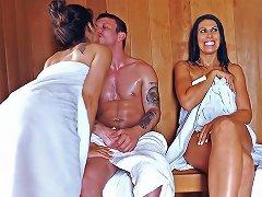 Sneaky Sauna Mama Brazzers Network